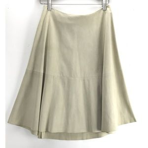 Prada Leather Suede Pannel A Line  Designer Skirt